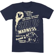 Tričko Shut Up, Unisex, Modrá,