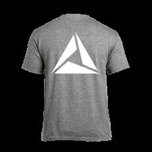 Tričko Logo White print, Muž, Šedá,