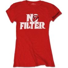 Tričko No Filter Header Logo, Žena, Červená,