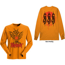 Tričko s dlhým rukávom Winged Devil, Unisex, Oranžová,