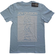 Tričko Unknown Pleasures White On Blue, Unisex, Modrá,