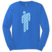 Tričko s dlhým rukávom Manonman, Unisex, Modrá,
