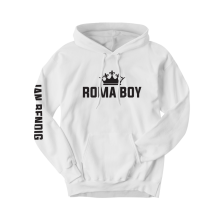 Mikina Roma Boy, Unisex, Biela,