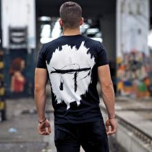 Tričko Idem na Techno Logo, Muž, Čierna,