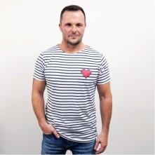Tričko 90's Stripe Tee, Muž, Navy,