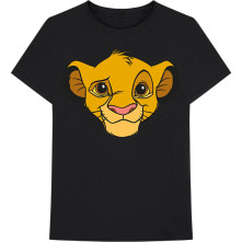 Tričko Lion King - Simba Face, Muž, Čierna,