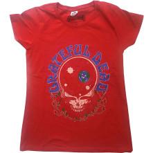 Tričko Space Your Face & Logo, Žena, Červená,