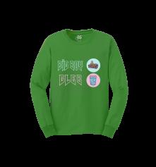 Tričko s dlhým rukávom Big Boy Gleb Green, Muž, Zelená,