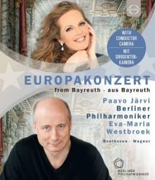Blu-ray WESTBROEK/BERLINER PHILHARMONIKER/JARVI - EUROARTS - BERLINER PHILHARMONIKER - EUROPAKONZERT 2018 - FROM THE MARKGRÄFLICHES THEATER BAYREUTH - PARVO JARVI