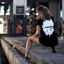 Tričko Idem na Techno Logo, Žena, Čierna,