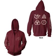Zipper Symbols, Unisex, Červená, L
