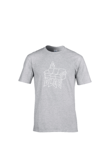 Tričko GAUČ STORYTELLING, grey, t-shirt, Muž, Šedá, 3XL