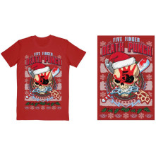 Tričko Zombie Kill Xmas, Unisex, Červená, L