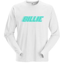 Tričko s dlhým rukávom Racer Logo, Unisex, Biela,