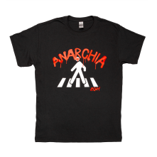 Tričko Anarchia, Unisex, Čierna,
