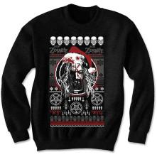 Crewneck Bloody Santa, Unisex, Čierna,
