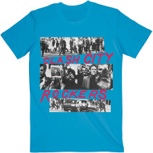 Tričko City Rockers, Unisex, Modrá,