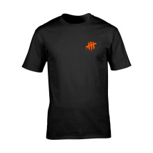 Tričko Ach Ano III Čierna / Oranžová, Muž, Čierna,