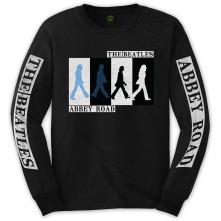 Tričko s dlhým rukávom Abbey Road Colours Crossing, Unisex, Čierna,