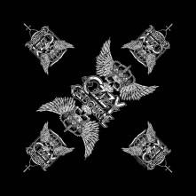 Šatka Skull & Wings, Unisex, Čierna, Univerzálna