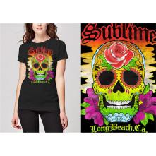 Tričko Colour Skull, Žena, Čierna,