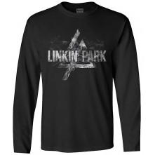 Tričko s dlhým rukávom Smoke Logo, Unisex, Čierna, L
