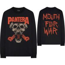 Tričko s dlhým rukávom Mouth For War, Unisex, Čierna,