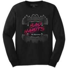 Tričko s dlhým rukávom Bad Habits, Unisex, Čierna, L