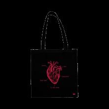 Taška Srdce, Unisex, Čierna, Univerzálna
