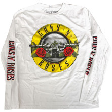 Tričko s dlhým rukávom Classic Logo, Unisex, Biela, M