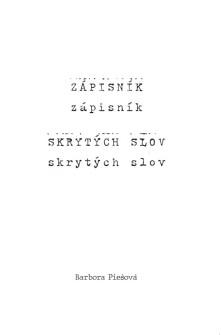 Kniha Zápisník skrytých slov