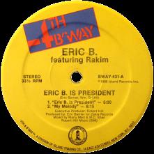 """Vinyl Eric B. Is President / My Melody (7"""" Vinyl)"""