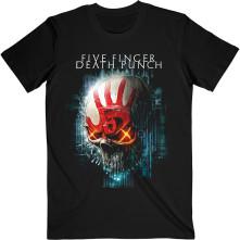Tričko Interface Skull, Unisex, Čierna, L