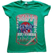 Tričko Destroyer Tour '78, Žena, Zelená,