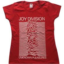 Tričko Unknown Pleasures, Žena, Červená,
