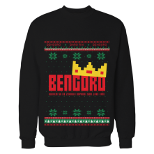 Crewneck Bengoro Vianoce, Unisex, Čierna, S