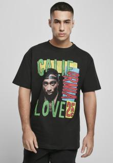 Tričko Tupac California Love Retro Oversize Tee, Muž, Čierna,