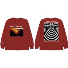 Tričko s dlhým rukávom Paranoid, Unisex, Červená,