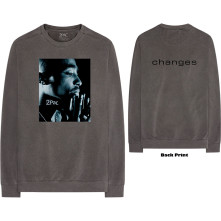 Tričko s dlhým rukávom Changes Side Photo, Unisex, Šedá,