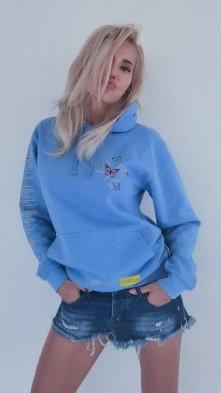 Mikina VerMi Bfly, Unisex, Cornflower Blue, L