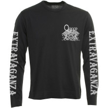 Tričko s dlhým rukávom Extravaganza, Unisex, Čierna,