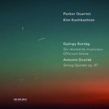 CD PARKER QUARTET / KIM KASH - GYORGY KURTAG: MOMENTS MUSICAUX & OFFICIUM BREVE