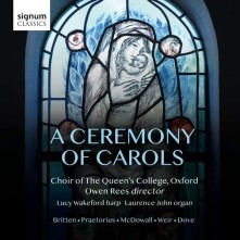 CD CHOIR OF THE QUEEN'S COLL - A CEREMONY OF CAROLS