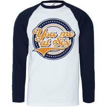 Tričko Crest, Unisex, Modrá/Biela, L