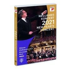 DVD Neujahrs Konzert 2021 (New Year's Concert 2021) Wiener Philharmoniker Riccardo Muti