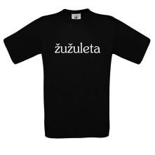 Tričko Žužuleta logo, Muž, Čierna,