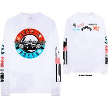 Tričko s dlhým rukávom Motorcross Logo, Unisex, Biela,