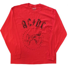 Tričko s dlhým rukávom For Those About to Rock, Unisex, Červená,