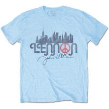 Tričko NYC Skyline, Unisex, Modrá,