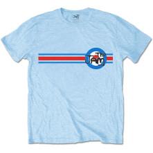 Tričko Target Stripe, Unisex, Modrá,